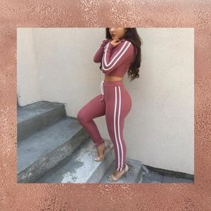 ROSE PINK SWEAT OUTFIT